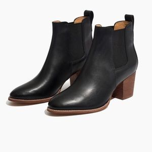 Madewell Reagan Black Leather Boots Size 6 1/2